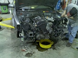 Car with Engine Exposed